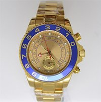 Luxury best swiss watch brand - Best Brands Blue Ceramic Bezel Swiss Gold Face Stainless Steel Sapphire Luxury Mens Automatic Mechanical Watch Pointer Wristwatches For Men