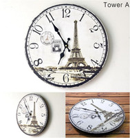 Wholesale New Vintage Wooden Mute Wall Clocks Ring Clock Art Design Office Room Home Decor