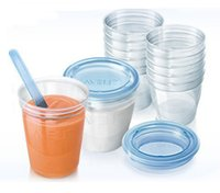 Wholesale AVENT Cup Via Breast Milk Storage for Avent Breast Pump Avent Baby Feeding Bottle Avent Food Containers ml Pieces Pack