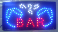 Wholesale 2016 hot sale customed low power x19 inch semi outdoor Ultra Bright running bar shop led business signs