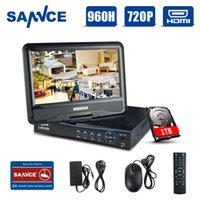 Wholesale SANNCE quot LCD monitor CH Full P HD DVR Recorder High Definition H Real time Surveillance Syste with TBm