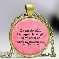 bible verse gifts - Bible Verse Jewelry Bible Necklace Philippians Bible Verse Inspirational Jewelry Inspirational Necklace Scripture