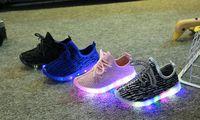Wholesale 2016 New Autumn Winter Boys Girls LED Light Casual Shoes Skate Children Kids Shoes