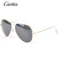 Carfia marque classique lunettes de soleil pilote 58mm Lunettes de soleil mode de vacances hommes lunettes de soleil femmes avec accessoires gratuits Produit d'expédition gratuit