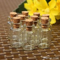 Wholesale 10 Cute Mini Clear Cork Stopper Glass Bottles Vials Jars Containers Small Wishing Bottle ZH210
