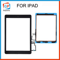 adhesive stickers for glass - For iPad air mini Touch Screen Assembly W IC Home Button Adhesive Sticker Glass Panel