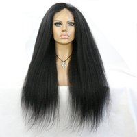 Wholesale Front Lace Wig Brazilian Italian Yaki Lace Front Wig Kinky Straight Glueless Lace Wigs Human Hair Wigs For Black Women