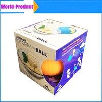 Wholesale New DIY Ice Cream Maker for kids Unplugged sand ice cream milkshake with ice cream ball DHL Free
