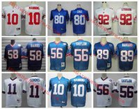 bavaro jersey - New York jerseys Giants Phil Simms Harry Carson Lawrence Taylor Carl Banks Mark Bavaro Victor Cruz Throwback jerseys