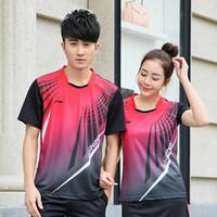 Wholesale Men women s Badminton Shirt Badminton jerseys Tennis shirt Quick Dry T shirt