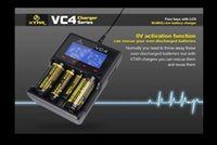 Wholesale XTAR VC4 LED Display USB Battery Charger Li ion AA AAA