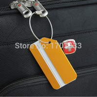 aluminium luggage - Aluminium Metal Travel Luggage Baggage Suitcase Tags Label Address Holder