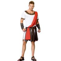 ancient roman costumes - Ancient Roman Warrior Costumes Masquerade Party Men Costume Gladiators Knight Julius Caesar Adult Cosplay Theme Cotume C47139149