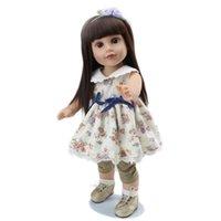 Hot Sale 18 pouces poupées American Girl 45cm Lifelike Reborn Toddlers à vendre pas cher Limb silicone et Tête Tissu Peluches Body