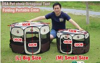 Wholesale Top quality Eco friendly D Oxford cloth Pet octahedral fence Portable folding dog tent kennel Cat nest