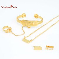bangles for children - WesternRain Fashion My Girl Kid jewelry Sets Bracelet Bangle With Ring Gold Plated Children Jewelry For girl A721