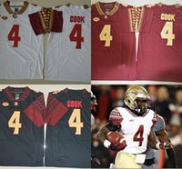 Wholesale Dalvin Cook Jersey Florida State Seminoles FSU Embroidery College Jerseys Top Quality Cook red black white Jerseys