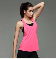 Wholesale Woman Yoga Running Fitness Exercise Loose Solid Vests Sport Vest Running Breathable Top