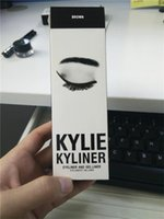 Wholesale Available kyKylie Cosmetics By Kylie Jenner Kyliner In Black Brown with Eyeliner Gel pot Brush DHL