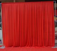 Wholesale Christmas Wall Backdrops - 3m*3m backdrop swag Party Curtain festival Celebration wedding Stage Performance Background Drape Drape Wall valane backcloth