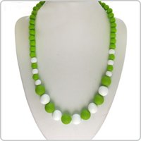 Wholesale ilicone Teething Necklace Pendant Nursing Necklace Baby Mommy BPA Free Provides Immediate Teething