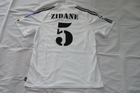 Wholesale Sport Retro Jersys Zidane Figo Raul Hierro Makélélé Roberto Carlos McManaman Morientes UCL Final real madrid Jerseys