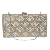 beaded bag patterns - High end luxury shell pattern Pearl ladies handbags evening bags cm gorgeous party chain clutch bags beaded