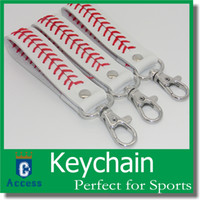 baseball promotions - 2016 baseball keychain fastpitch softball accessories baseball seam keychains