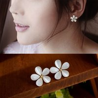 Wholesale 2016 Fashion Women jewelry Accessories Hot Korean exquisite opal five cherry Zircon alloy hypoallergenic earrings