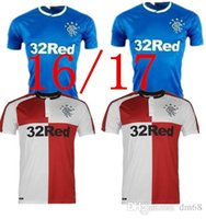 Wholesale 16 Thai version of Rangers season home and away jerseys