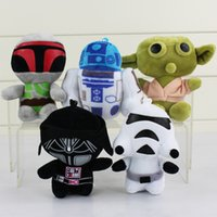 Wholesale New Star Wars plush keychain Cartoon Super Deformed Boba Yoda robot Stormtrooper Stuffed Animals Soft Doll Toy set cm