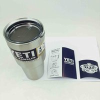 Wholesale 20 oz YETI Tumbler Rambler Cups Yeti Rambler Tumbler Stainless Steel oz Mugs Large Capacity Stainless Steel Travel Mug
