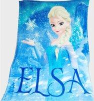 achat en gros de reine couverture douce-Couverture en laine de glace Queen Coral Couverture de soie surgelée Elsa Palace Couverture de laine 100 * 140cm Ice Queen Soft pour les enfants