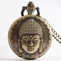 antique brass table - Chinese style Buddha Zu Jingdian retro pocket watch No Lucky Buddha Shiying Huai table gift watches for men and women