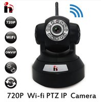 Wholesale Free Ship P2P IP Camera P HD Wifi Wireless Baby Monitor PTZ Security Camera ONVIF Cloud Night Vision Micro SD Card