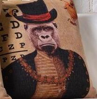 african body art - The African Lion Orangutan King Noble Decoration Pillow Elegant Art Pillow Massager Neck Euro Pillows Home Decor Gift