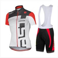 Wholesale cateli Cycling Jerseys new Cycling Jersey Set more color Short Sleeve With Padded Bib Trousers Ultra Breathable Bike Wear