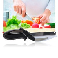 Wholesale 2016 Trendy Clever Cutter in Stainless Steel Knife Cutting Board Scissors Food Cutter for Meat Vegetable