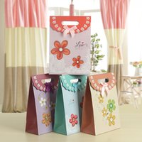 Wholesale Handmade Flowers Fresh floral Wedding candy bag gift bags jewelry bag candy bags goodie bags Favor Holders HJ022
