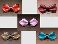 Wholesale New Formal Commercial Bow Tie Fashion Men Bowties For Boys Accessories Cravat Bowtie Bow Ties Two layers Arrow colors