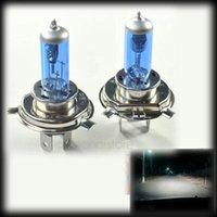 Wholesale by dhl or ems H4 Halogen Xenon HID Head light Headlights Headlamp Super White Replacement bulb K Pair