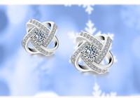 Wholesale lingdong fashion love Earrings Pure Sterling Silver Plate AAA Zircon mosaic Earrings For Women Accessories gift