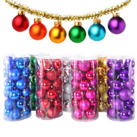 Wholesale Christmas Ball Matt Finished Balls With Dia cm cm cm Mulity Color PVC Beaded Ball For Christmas Decoration Wedding Party P C