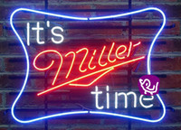 beer time - Larger It s Miller Time Glass Neon Sign Beer light