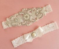 Wholesale 2016 handmade silver rhinestone applique garters for bridal bridal garter wedding garter wedding accessories