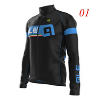 autumn ale - Factory Price Ale Cycling Jerseys Long Sleeve Tops Ropa Ciclismo Road MTB Bicycle Clothing Autumn Winter Black Red Blue High Elastic Wear