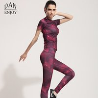 beautiful yoga clothes - Purple Yoga Sets Stars Skyscape Women s Beautiful Patchwork Clothes Suits Sport Shirt Running Gym Sports Top Elastic Capris