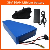 Wholesale 36V W Triangle battery V AH Electric Bike V Lithium ion battery pack with bag Use samsung mah cell V A charger