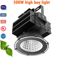 Wholesale 500w high power led bay light floodlights waterproof outdoor field sports court stadium lighting meanwell driver creechip years warranty