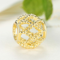 Wholesale 925 Sterling Silver Wanderlust Charms K Gold Beads for Pandora Style Beaded Charm Bracelets S310